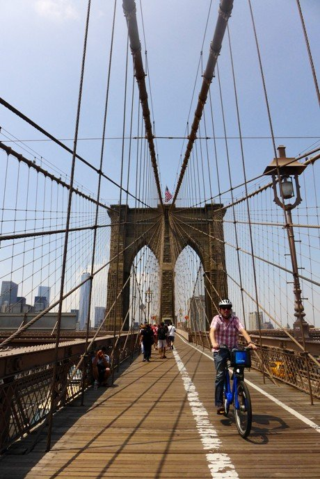 Brooklyn Bridge Pedestrian Walkway; New York City